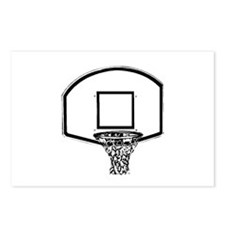 B&W Basketball Hoop Postcards (Package of 8)