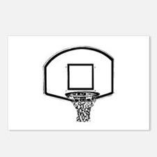 B&W Basketball Hoop Postcards (Package of 8)
