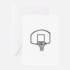 B&W Basketball Hoop Greeting Cards (Pk of 10)