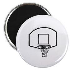 """B&W Basketball Hoop 2.25"""" Magnet (100 pack)"""