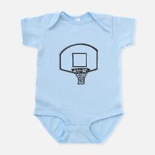 B&W Basketball Hoop Infant Bodysuit