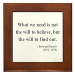 Bertrand Russell 4 Framed Tile