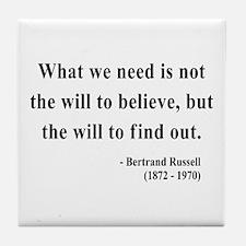Bertrand Russell 4 Tile Coaster