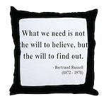 Bertrand Russell 4 Throw Pillow