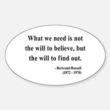 Bertrand Russell 4 Oval Decal