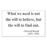 Bertrand Russell 4 Rectangle Sticker