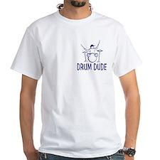 Drum Dude White T-Shirt