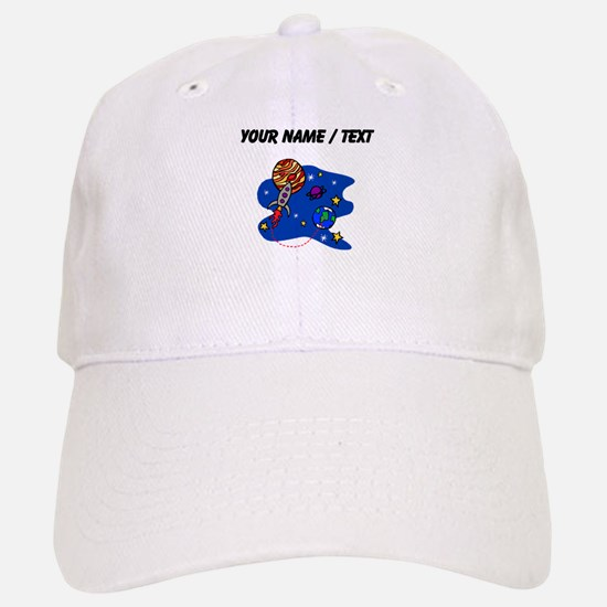Rocket In Space (Custom) Baseball Baseball Baseball Cap