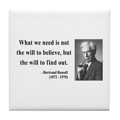 Bertrand Russell 4 Tile Coaster