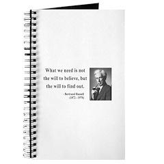 Bertrand Russell 4 Journal