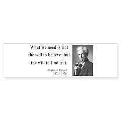 Bertrand Russell 4 Bumper Bumper Sticker