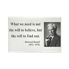 Bertrand Russell 4 Rectangle Magnet