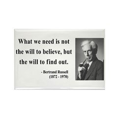 Bertrand Russell 4 Rectangle Magnet (100 pack)