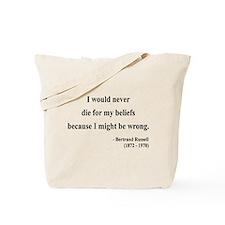 Bertrand Russell 3 Tote Bag