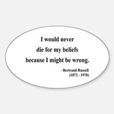 Bertrand Russell 3 Oval Decal