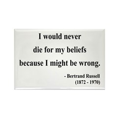 Bertrand Russell 3 Rectangle Magnet