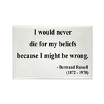 Bertrand Russell 3 Rectangle Magnet (100 pack)