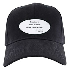 Bertrand Russell 3 Baseball Hat