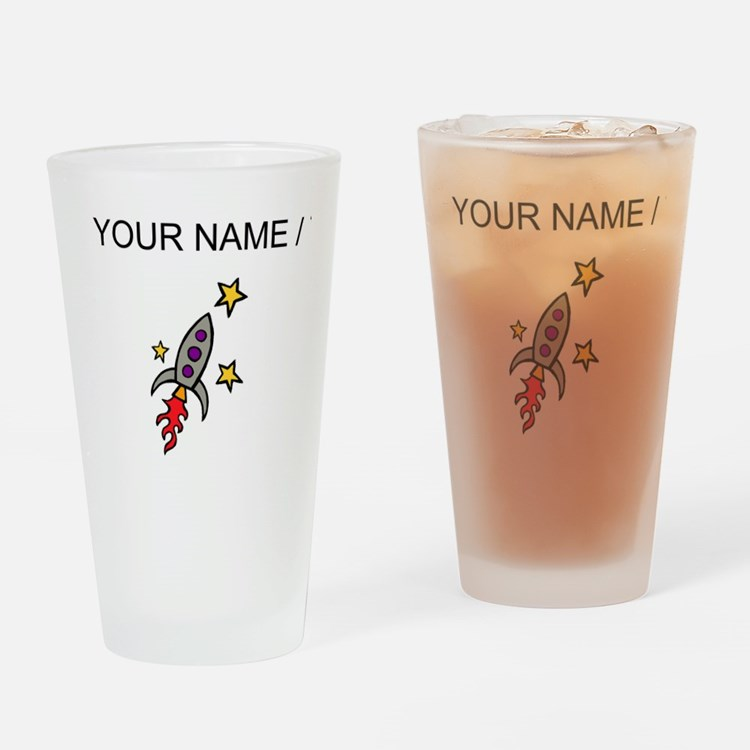 Space Ship (Custom) Drinking Glass