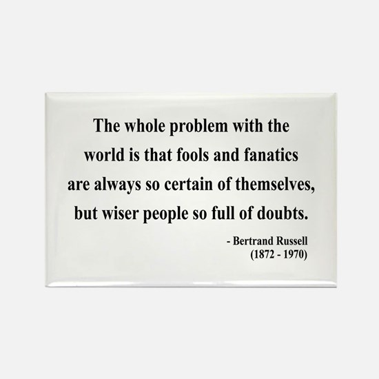 Bertrand Russell 2 Rectangle Magnet