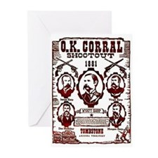 O.K. Corral Shootout Greeting Cards (Pk of 10)