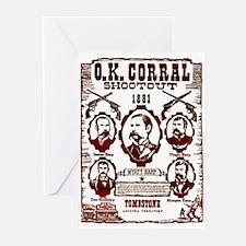 O.K. Corral Shootout Greeting Cards (Pk of 10)