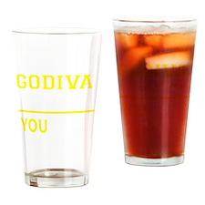 Cute Godiva Drinking Glass