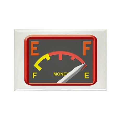 Got gas? Then you're broke. Rectangle Magnet (100