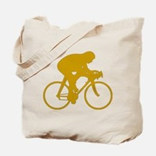 Gold Cyclist Tote Bag