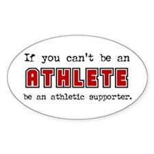Athletic Supporter Oval Decal