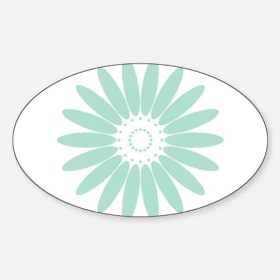 Abstract Digital Pastel Mint Green Flower Decal