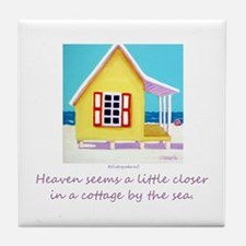 Cottage by the Sea Tile Coaster
