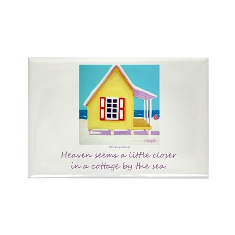 Cottage by the Sea Rectangle Magnet (100 pack)