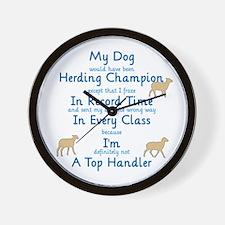 Herding Top Handler Wall Clock
