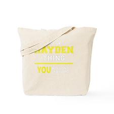 Funny Hayden Tote Bag