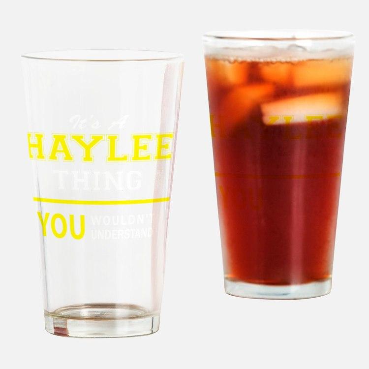 Cute Haylee Drinking Glass