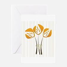 Cute Orange Tulip Flowers Greeting Card