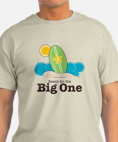 The Big One Surf Off White Beach Surfing T-Shirt