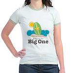 The Big One Surf Girl Green Jr. Ringer T-Shirt