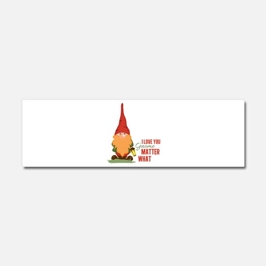 I Love You Gnome Car Magnet 10 x 3