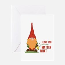 I Love You Gnome Greeting Cards