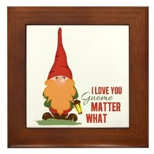I Love You Gnome Framed Tile
