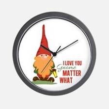 I Love You Gnome Wall Clock