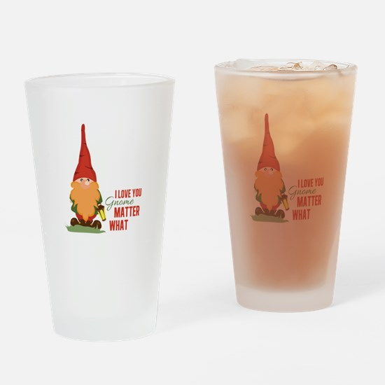 I Love You Gnome Drinking Glass