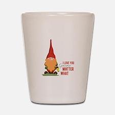 I Love You Gnome Shot Glass