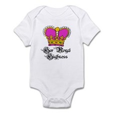 Her Royal Highness PINK Crown Baby Bodysuits