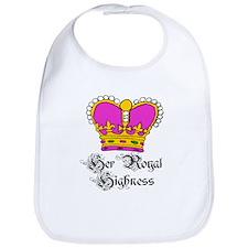 Her Royal Highness PINK Crown Baby Bib