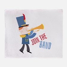 Join The Band Throw Blanket