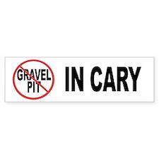 No Gravel Pit Bumper Bumper Sticker