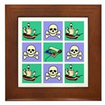 Treasure Map Blocks Framed Tile